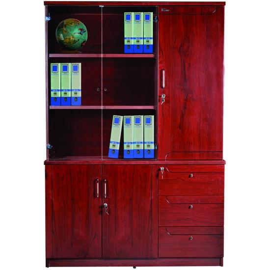 Tủ tài liệu gỗ sơn PU cao cấp DC1350H1