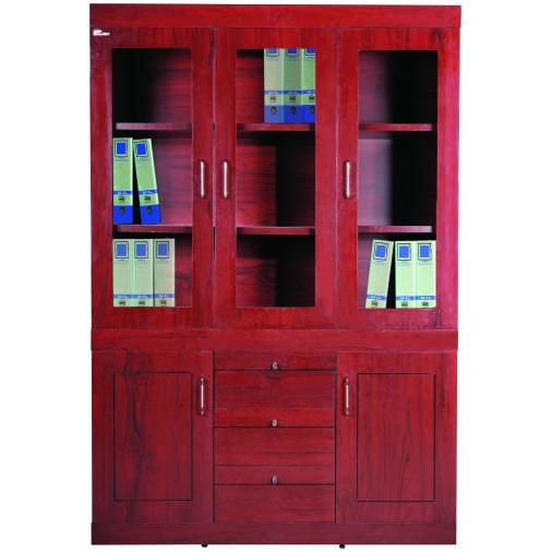 Tủ tài liệu gỗ sơn PU cao cấp DC1350H10